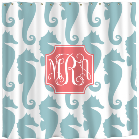 Monogrammed And Personalized Shower Curtains