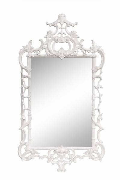 white_lacquer_chippendale_wall_mirror