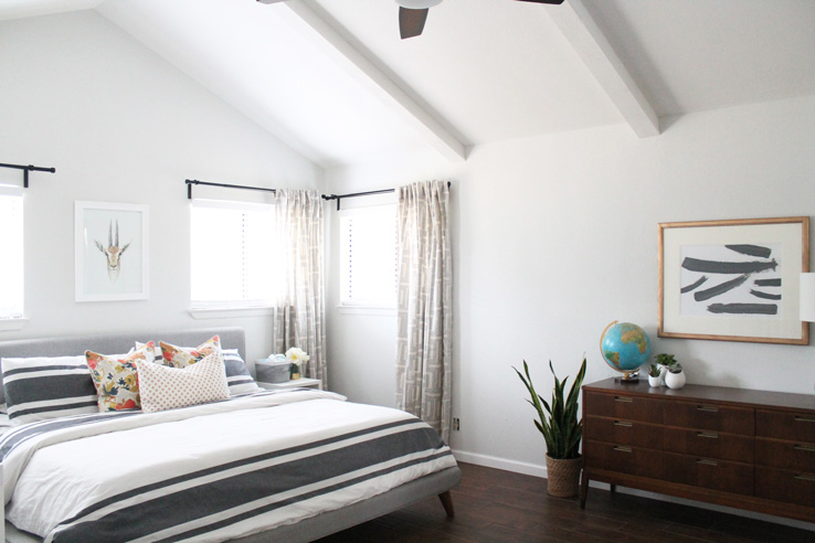 A Beautiful Mid Century Modern Master Bedroom