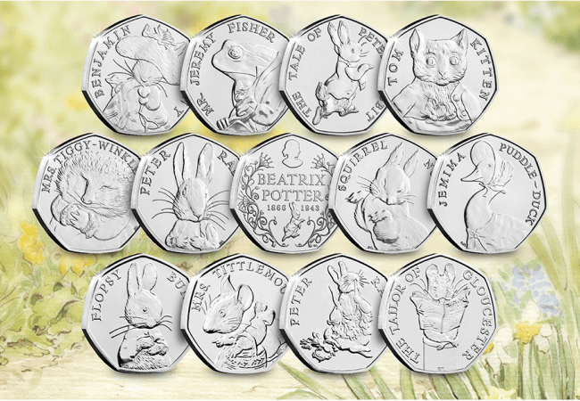 AT Beatrix Potter 50p Coins 650x450 1 - My TOP FIVE coins of the decade