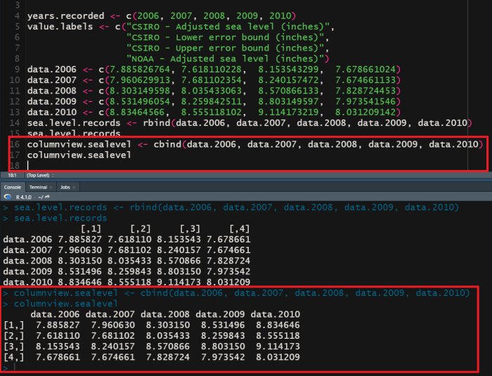 R matrix created using cdata.