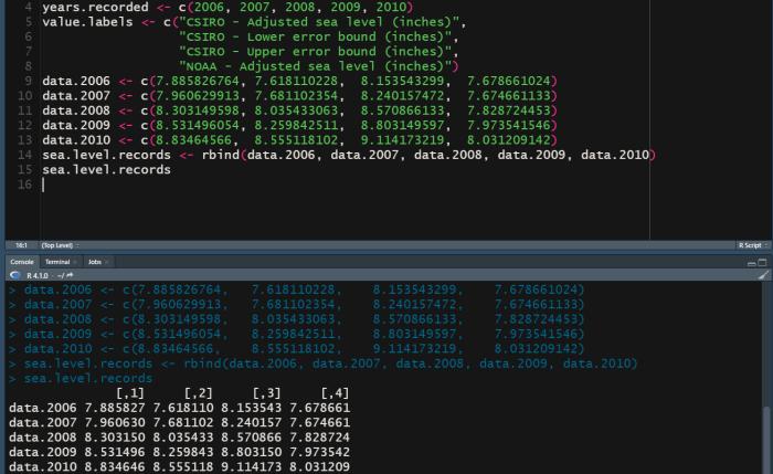 Creating a matrix with rdata.