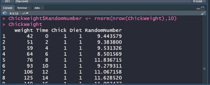 R using $ to add column.