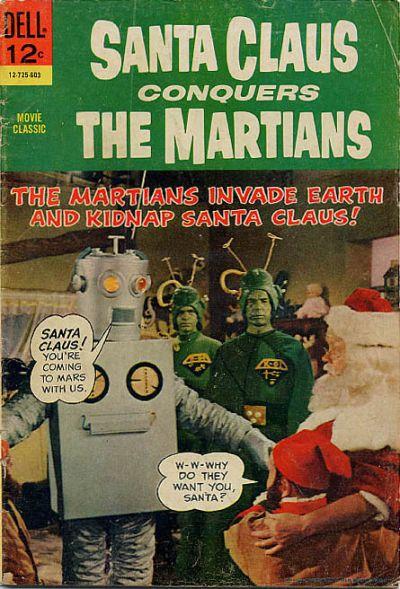 Babbo Natale contro i marziani, in un vecchio fumetto della Dell Comics