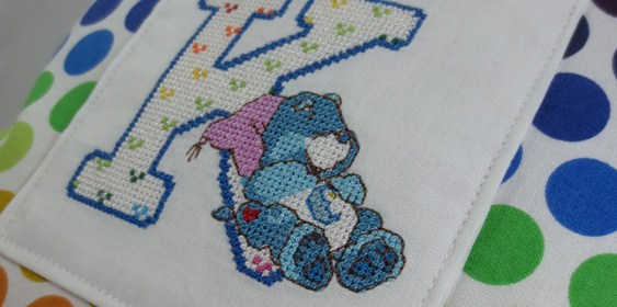 Care Bears Alphabet Letter K Tooth Fairy Pillow