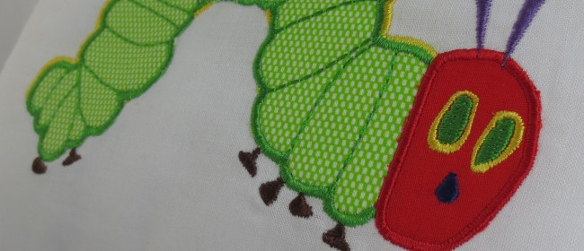 Hungry Caterpillar Applique Pillow