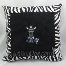 Jack the Zebra Embroidered Pillow