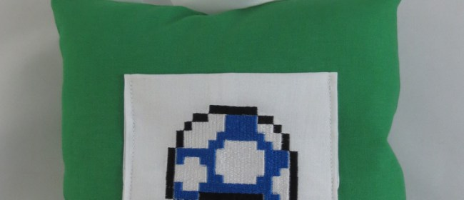Mario Mini Mushroom Toothfairy Pillow