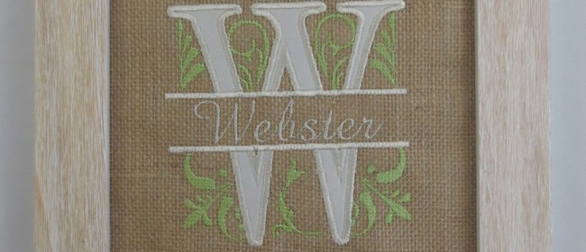 Webster Royal Split Burlap Applique