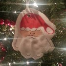 Handprint Santa Salt Dough Ornament