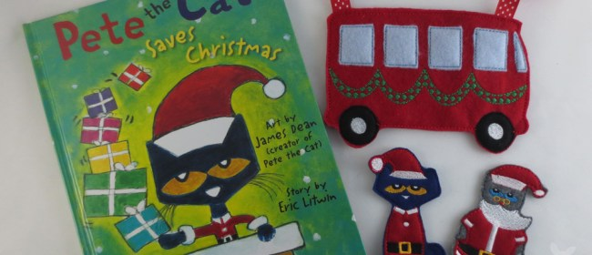 Pete the Cat Christmas Felt Finger Puppets