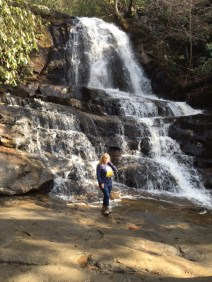 Debby S. visiting Laurel Falls.
