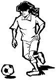 Fußballspieler Sport Illustration