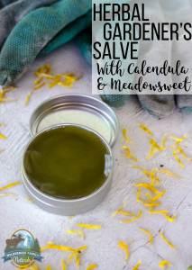 Herbal Gardener's Salve With Calendula & Meadowsweet