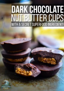 Homemade Dark Chocolate Nut Butter Cups (with a secret superfood ingredient!)