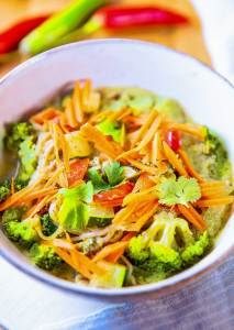 Gluten-Free Thai Spice Bowl | You know vegetables are good for you... but how often do you actually enjoy them? Imagine a steaming bowl of ramen noodles, tossed with vegetables, surrounded by the most fragrant sauce. It's so fresh and addicting! | WildernessFamilyNaturals.com