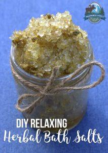 DIY Relaxing Herbal Bath Salts