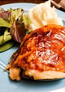 Inulin Glaze For Meat & Vegetables | I love a good glaze -- something that coats, crisps, and makes food a bit sticky and oh-so-delicious. This inulin glaze is super simple and perfect for the holiday turkey or ham or for basting on vegetables! | WilernessFamilyNaturals.com