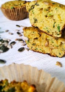 Savory Coconut Flour Muffins | I've found an alternative to sugar-loaded muffins -- a healthy, savory muffin recipe WITH pumpkin and WITHOUT the sugar. This coconut flour muffin delivers the muffin-high without the sugar-high. You can sneak a few veggies in, and no one will notice! | WildernessFamilyNaturals.com