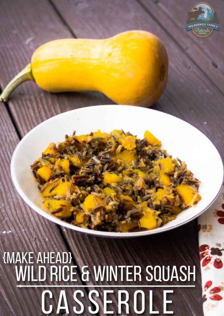 Wild Rice & Winter Squash Casserole -- A Make-Ahead ...