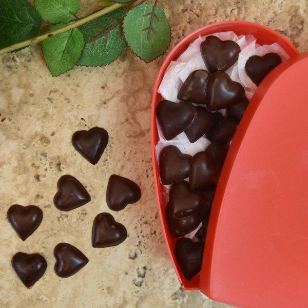 Homemade Valentine S Day Chocolate Hearts With Tart Cherries