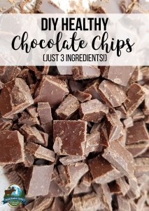 DIY Healthy Chocolate Chips (just 3 ingredients!)