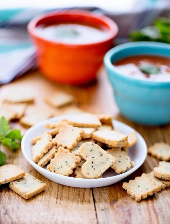 Homemade Hemp Heart Crackers | Homemade hemp heart crackers are so much more than a soup topping! Pack them in lunch boxes for a crunchy snack. Grind the crackers to mix into meatballs or top casseroles. Spread them with nut butter or jam for a filling snack. Don't forget to include on your cheese trays! | WildernessFamilyNaturals.com
