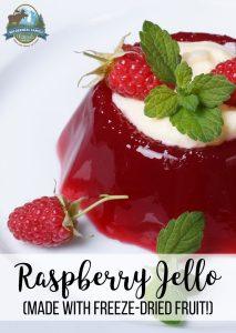 Raspberry Jello (made with freeze-dried fruit!)