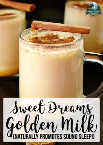 Sweet Dreams Golden Milk (naturally promotes sound sleep!)