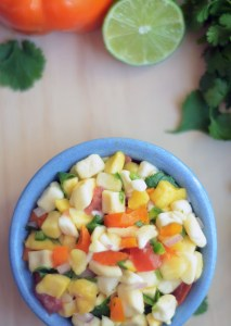 Freeze-Dried Mango Salsa | A nice change from regular tomato-based salsa, freeze-dried mango salsa is light and fruity with a refreshing burst of flavor. Using freeze-dried mango means you can enjoy this year round with chips, salads, tacos, burritos, and grilled meats! | WildernessFamilyNaturals.com