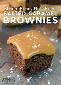 Grain-Free, Nut-Free Salted Caramel Brownies
