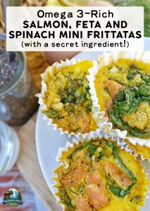Omega 3-Rich Salmon, Feta and Spinach Mini Frittatas (with a secret ingredient!)