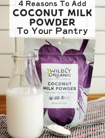 4 Reasons To Add Coconut Milk Powder To Your Pantry   Uh-oh... You've started making a recipe only to discover that you're out of canned coconut milk! Coconut milk powder is a pure, dairy-free option -- simply mix with water and it's ready! Here are 4 reasons to add coconut milk powder to your pantry.   WildlyOrganic.com
