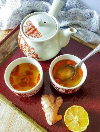 Goji Berry-Ginger Tea   Full of antioxidants, goji berries are a superfood that's perfect for granola, trail mixes, and snacking. Or, try them in this hot Goji Berry-Ginger Tea!   WildlyOrganic.com