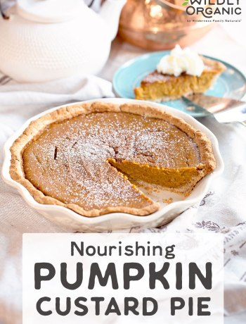 Nourishing Pumpkin Custard Pie | Without highly processed evaporated or condensed milk, Nourishing Pumpkin Custard Pie is gluten-free and contains healthy fats plus all the nutritional benefits of pumpkin. Coconut sugar adds elusive caramel flavor to our take on Fall's most popular pie. | WildlyOrganic.com