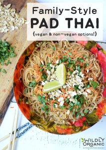 Family-Style Pad Thai {vegan & non-vegan options!}