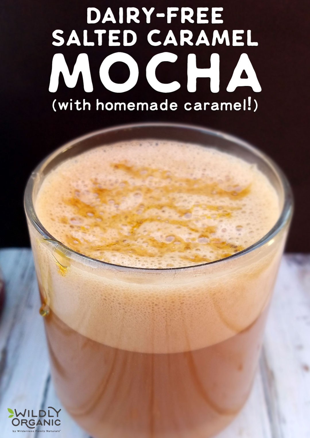 Those fancy coffee drinks... They sure are delicious, but they're not health-friendly, budget-friendly, or figure-friendly, are they? It's easy to make your own! A Dairy-Free Salted Caramel Mocha boasts sweet flavor of caramel, combined with hot coffee, freshly whipped cream, and a salty finish. It's irresistible!