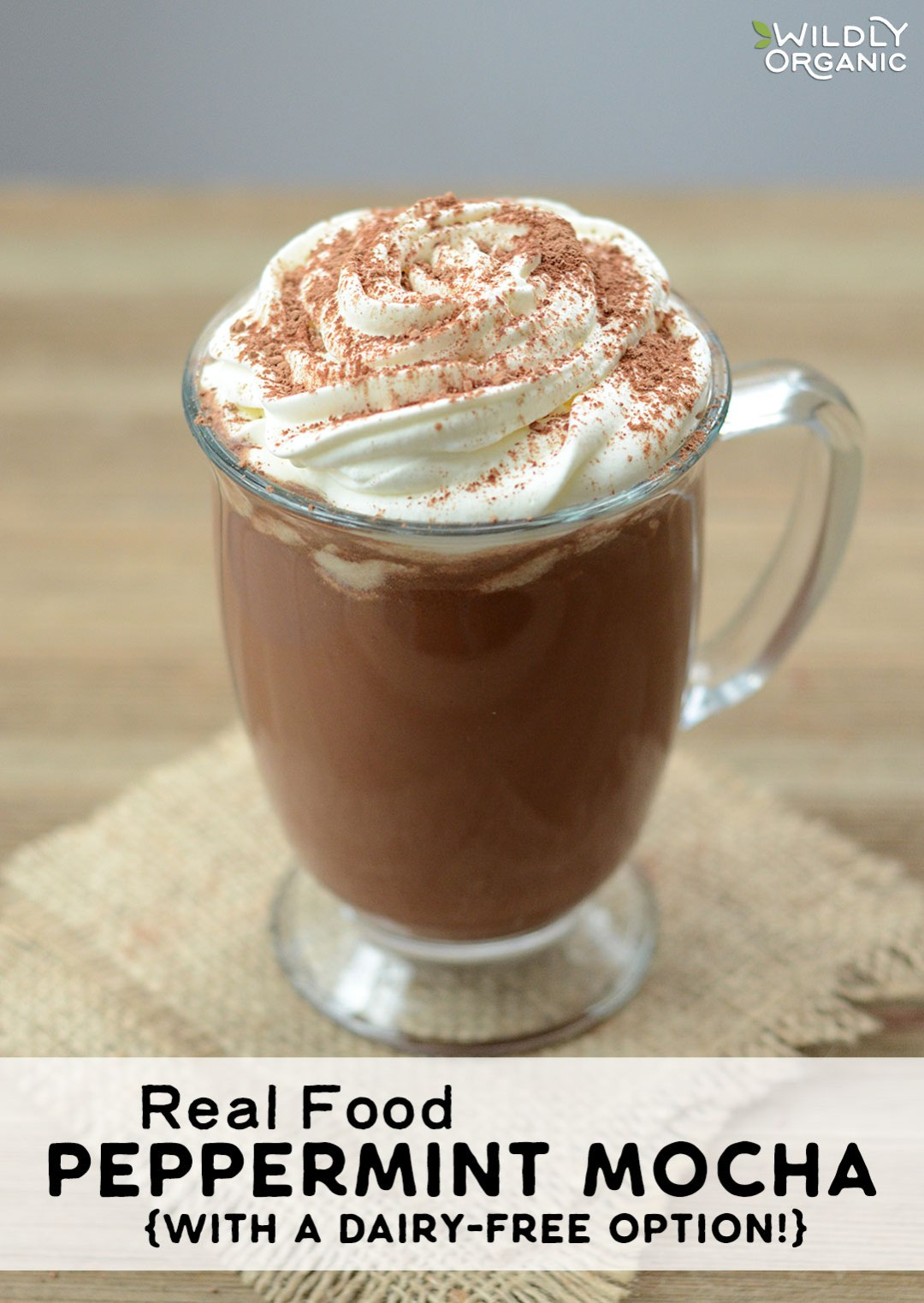 Can a Real Food Peppermint Mocha reallytasteas good as (or better than) the well-loved version from one of American's favorite coffee joints? You betcha! This recipe is loaded with antioxidants, healthy fats, and amazing flavors without the artificial additives and refined sugar, plus it has a dairy-free option!