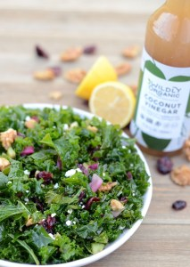 Clean-Eating Olive Oil & Coconut Vinegar Massaged Kale Salad