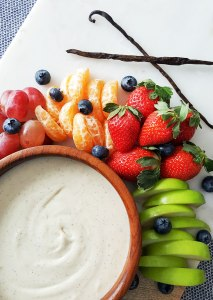 Vegan Coconut Butter & Vanilla Bean Fruit Dip (with a sugar-free option!)