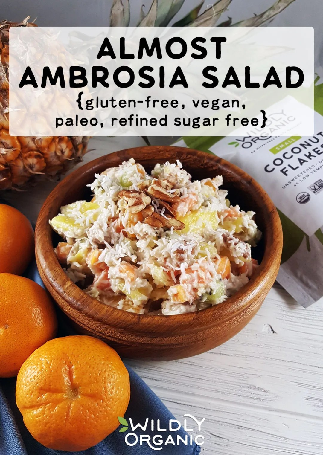 Photo of Almost Ambrosia Salad – Ambrosia Salad is a staple at many family gatherings. Creamy, fruity, coconutty goodness, the whole family will love this fresh and healthy version of Ambrosia Salad using just fruit, vegan whipped cream, nuts and no refined sugars! Take it to your next potluck or BBQ this summer!