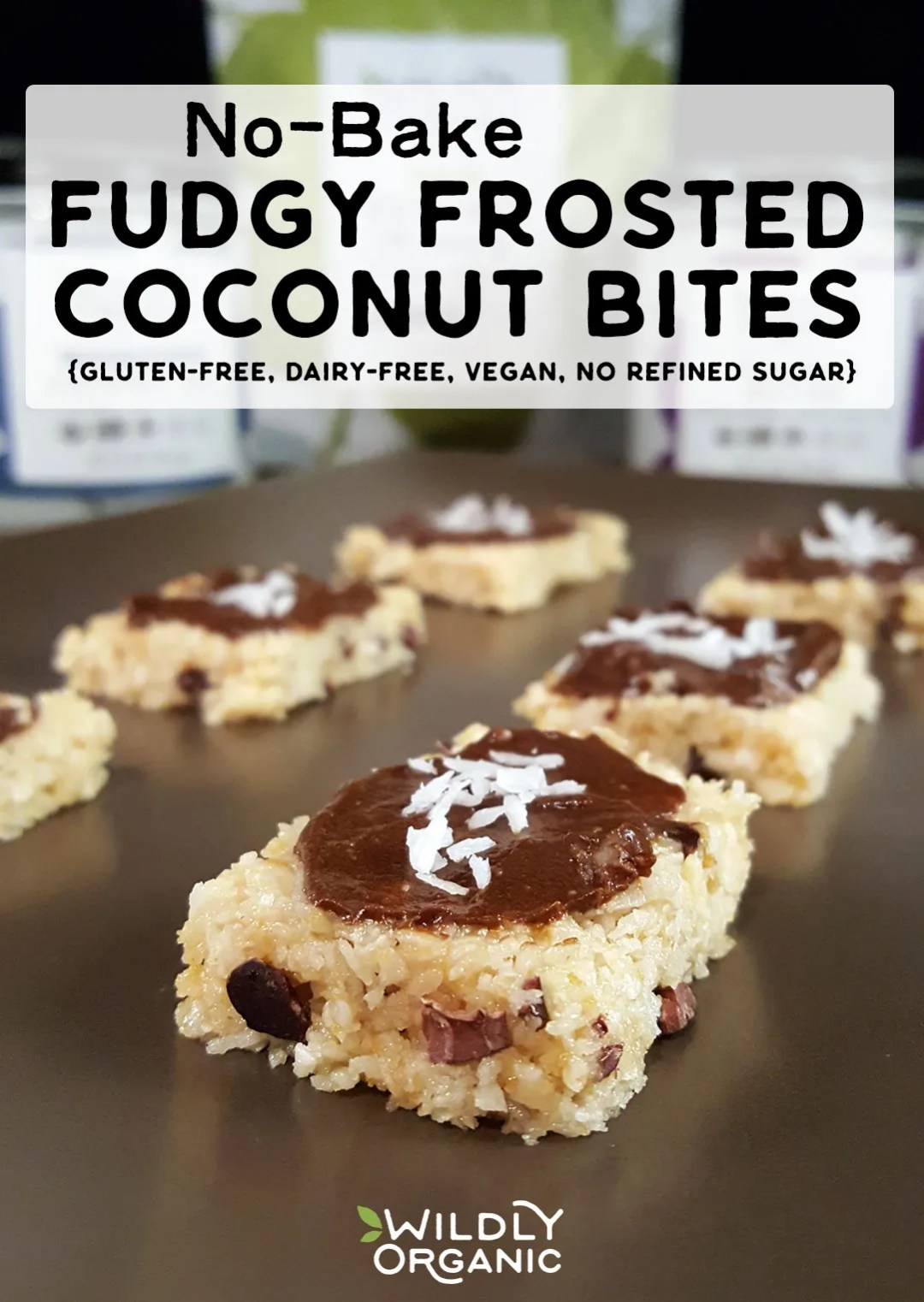 Photo of No-Bake Fudgy Frosted Coconut Bites