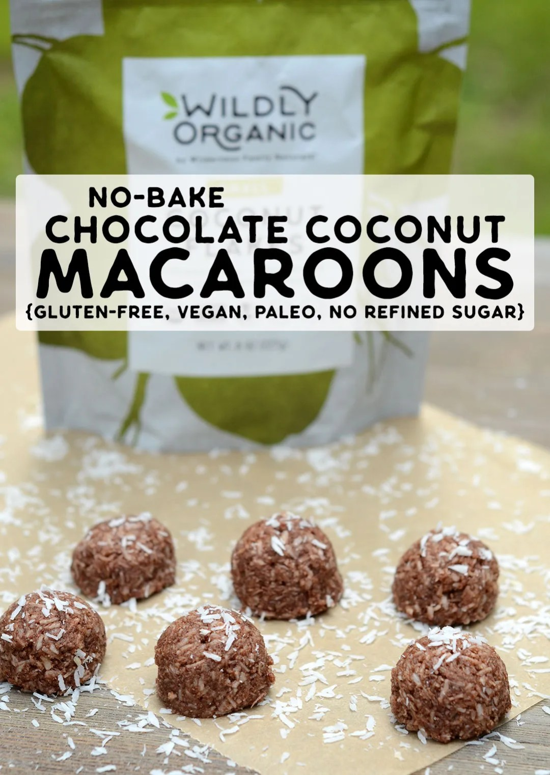 Photo of No-Bake Chocolate Coconut Macaroons {gluten-free, vegan, paleo, no refined sugar} | With just 6 healthy ingredients, these no-bake chocolate coconut macaroons will be a staple in your house this summer. They're so easy to make, too!