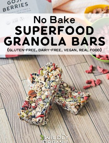 Photo of superfood granola bars with goji berries | No Bake Superfood Granola Bars | Whip up a big batch of these no bake superfood granola bars and toss them in your freezer for busy days. They're gluten-free, dairy-free, vegan!