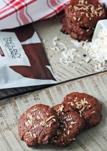 Chocolate Almond Coconut Cookies {gluten-free, dairy-free, no refined sugar}