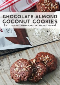 Photo of chocolate cookies with coconut flakes on top