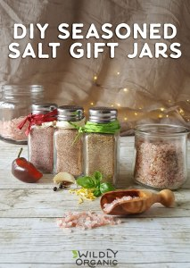 Photo of four salt shakers filled with different seasoned salts