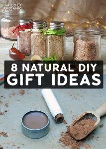 Photo collage of DIY seasoning salts and chocolate lip balm.