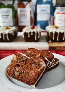 Gluten-Free Mini Cranberry Walnut Breads {No Refined Sugar, Dairy-Free Option}