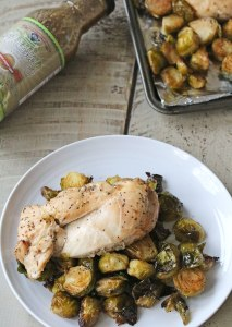 Sheet Pan Lemon Poppy Seed Chicken {gluten free, dairy free}